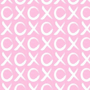 xoxo - pink - hugs and kisses - valentines day love - LAD19