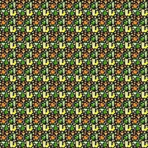 Citrus pop on black 2x2