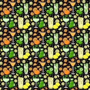 Citrus pop on black 6x6
