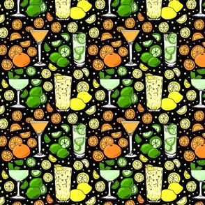 Citrus pop on black 8x8
