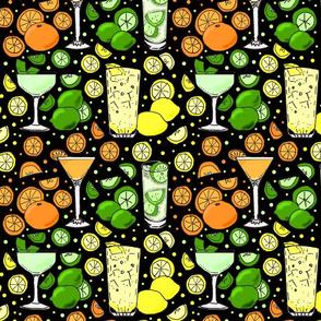 Citrus pop on black 10x10