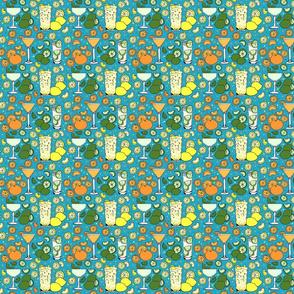 Citrus pop on blue 4x4