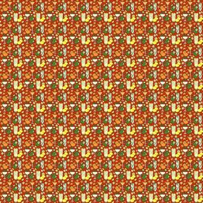Citrus pop on red 2x2