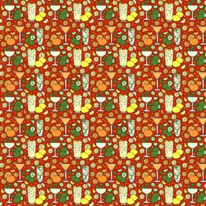 Citrus pop on red 4x4