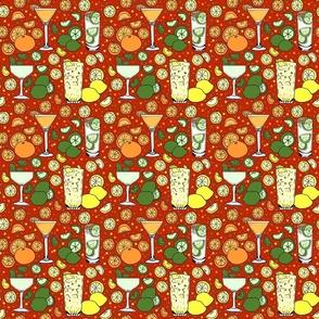 Citrus pop on red 6x6