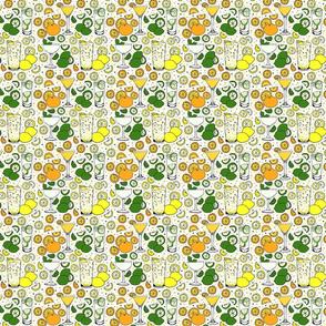 Citrus pop on white 4x4