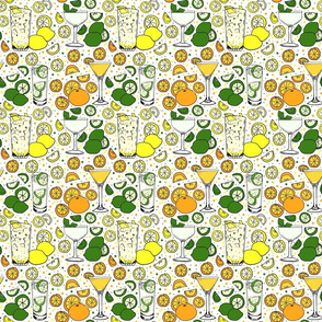 Citrus pop on white 6x6