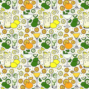 Citrus pop on white 8x8