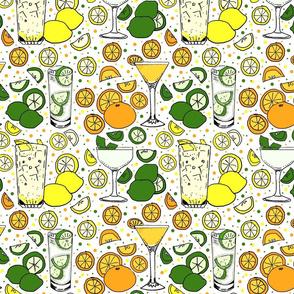 Citrus pop on white 10x10
