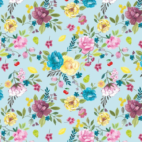 Chintz blue picnic