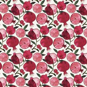 pomegranate passion watercolor
