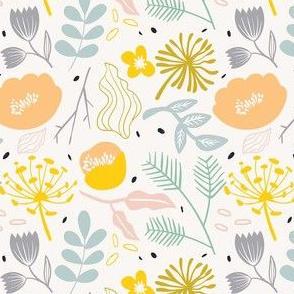 Wild Floral in Cream