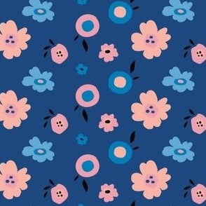 Pop Floral in Blue