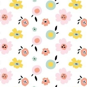 Pop Floral in White