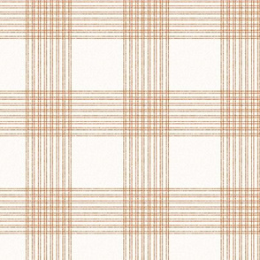 Crossover Plaid small: Cream & Terracotta Linear Plaid