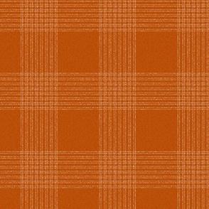 Crossover Plaid Dark small: Terracotta & Cream Linear Plaid