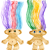 Jewel-Tone '70s Troll Dolls