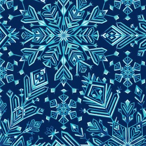 Winter snowflakes kaleidoscope