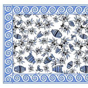 Mousehaus Greek Urn_Wave Border_Blue