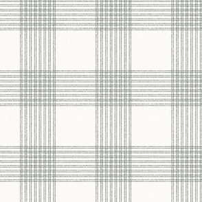 Crossover Plaid small: Cream & Forest Green Plaid