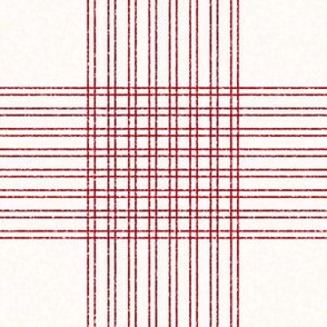 Crossover Plaid: Cream & Red Plaid
