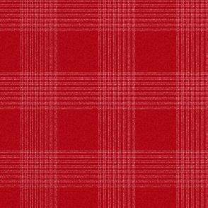 Crossover Plaid Dark small: Red & Cream Plaid