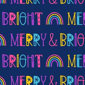 Merry & Bright on Blue