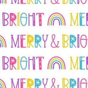 Merry & Bright on White
