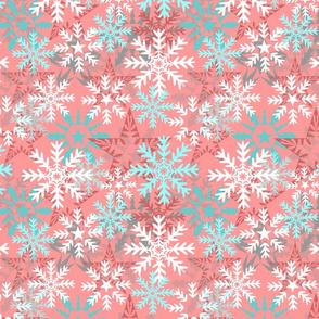 Snowflakes (pink)