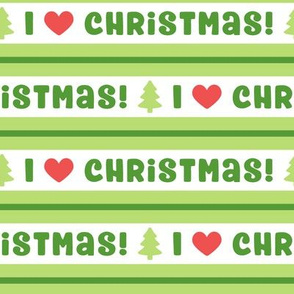 I Heart Christmas in Bright Green & Red