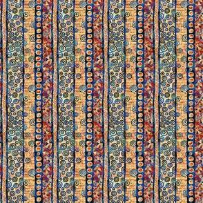 Golden Charm: Mini Stripes at Play