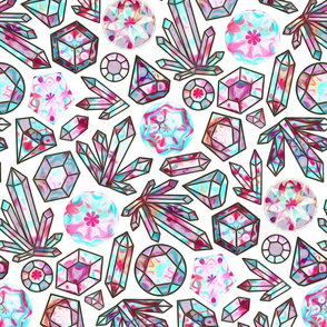 Kaleidoscope Crystals - White (Large Version)