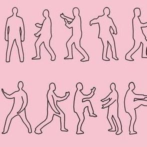 Tai Chi Postures on pink
