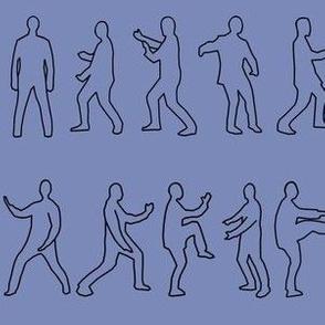 Tai Chi Postures on blue