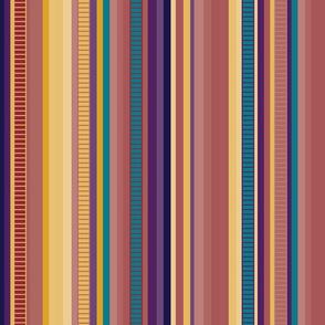 Serape Stripe-Muted Jewel Tones