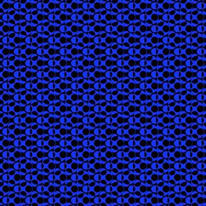 Blue and Black Abstract Polka Dots