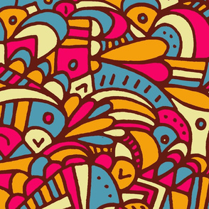 Fun with colour and doodles