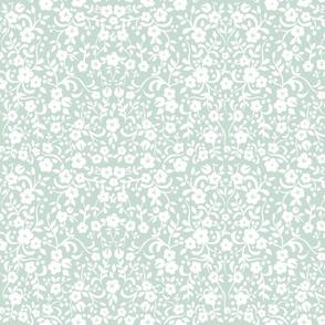 Petite petals white on turquise