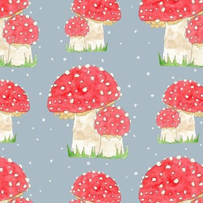 Toadstools in the Snow
