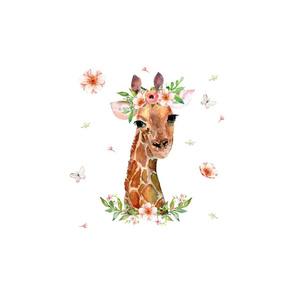 "12""x12"" Floral Giraffe"