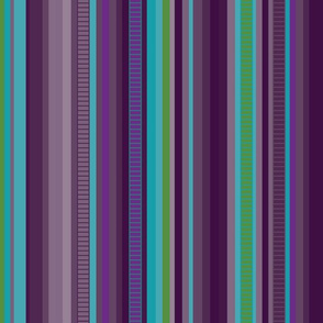 Serape Stripe-Blues & Purples