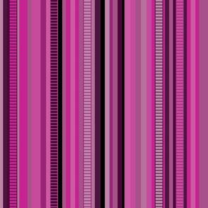Serape Stripe-Pinks & Violet