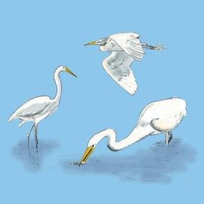 White Herons-Atelier LuckyBird NL