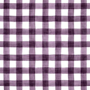 Plum Linen Watercolor Buffalo Check