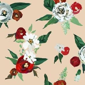 Christmas Roses // Khaki