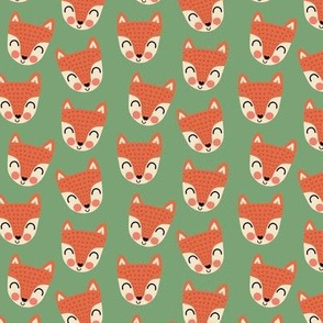 Scandi foxes on woodland green (small scale)