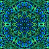 Green kaleidoscope