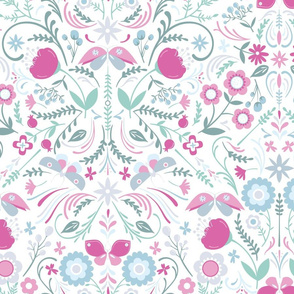 Butterfly Chintz on White2