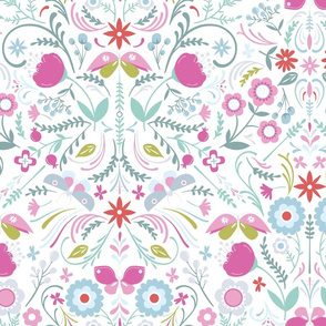 Butterfly Chintz on White1