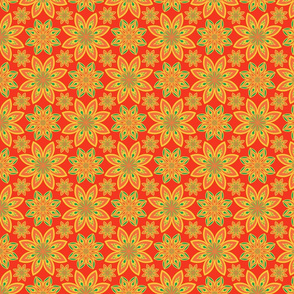 Floral ethnic tiled ornament